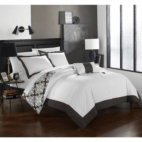 Chic Home 4-Piece Maribeth Grey Duvet Cover Set. Opens flyout.