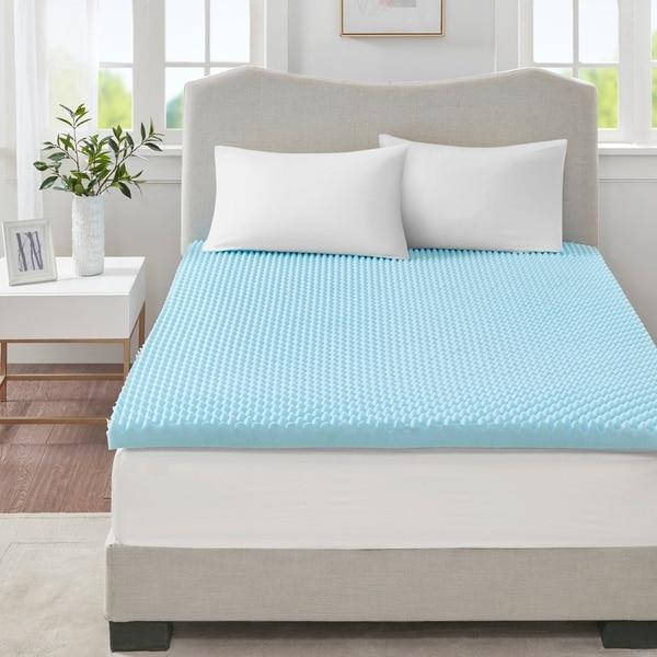 shop sleep philosophy flexapedic all season reversible hypoallergenic 3 inch cooling gel memory. Black Bedroom Furniture Sets. Home Design Ideas