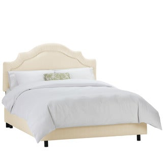 Skyline Furniture Twill Natural Shirred Notch Bed