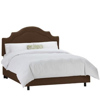 Skyline Furniture Twill Chocolate Shirred Notch Bed