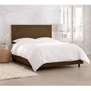 Skyline Furniture Velvet Chocolate Nail Button Bed