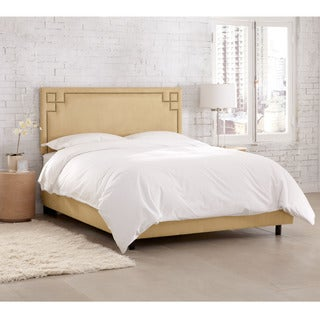 Skyline Furniture Velvet Buckwheat Nail Button Bed