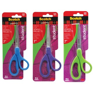 "3M 1407S-MIX 7"" Assorted Straight Cut Scissors"