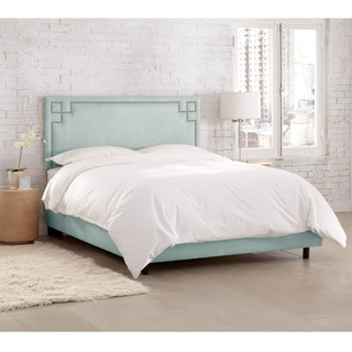 Skyline Furniture Velvet Pool Nail Button Bed