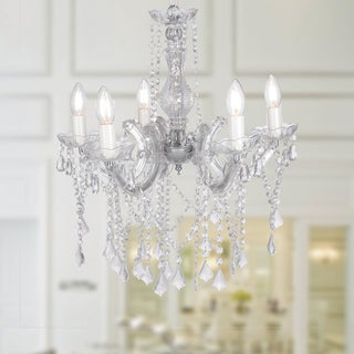 Warehouse of Tiffany Encantadia Clear Acrylic 40-inch 5-light Modern Chandelier