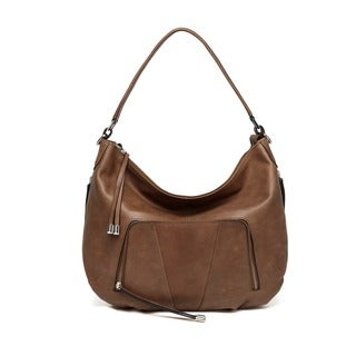 Vicenzo Leather Volante Distressed Leather Shoulder Handbag