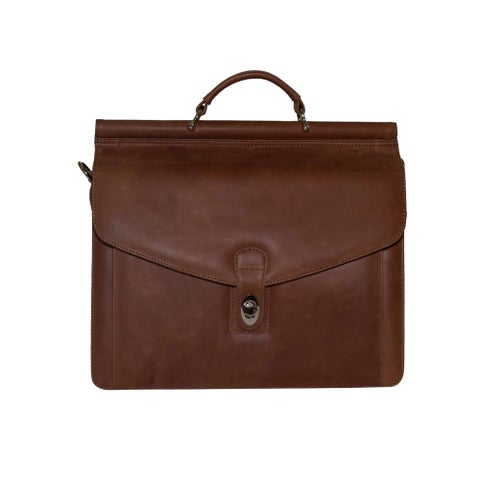 Vicenzo Leather Rushmore Full Grain Leather 14.5-inch Laptop Bag