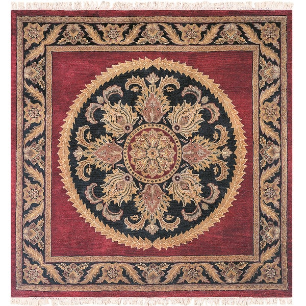 Majestic Collection Multicolor Wool Hand-tufted Square Area Rug (10' x 10') - 10' x 10'