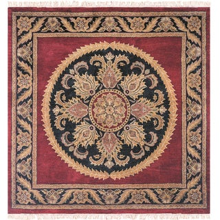 Majestic Collection Multicolor Wool Hand-tufted Square Area Rug (10' x 10')