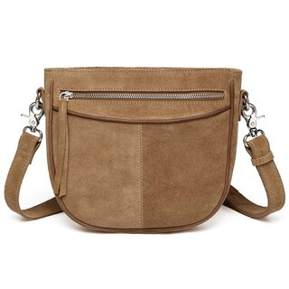Vicenzo Leather Donielle Suede Leather Crossbody Bag