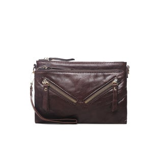 Vicenzo Leather Juno Leather Crossbody/Clutch Handbag