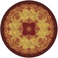 Imperial Collection Multicolor Wool Hand-tufted Round Area Rug (8' x 8') - 8' x 8'