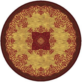 Imperial Collection Multicolor Wool Hand-tufted Round Area Rug (8' x 8')