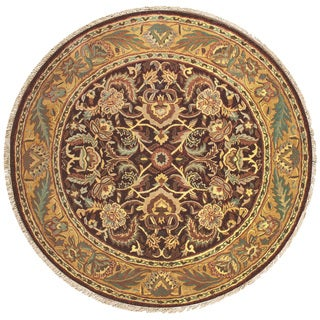 Hand-tufted Willow Plum Wool Round Rug (8' x 8')