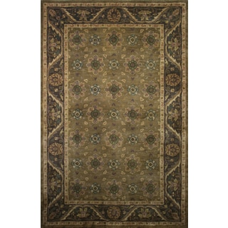 Khaki Wool Hand-tufted Avalon Square Area Rug (8' x 8')