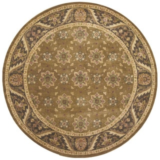 Hand-tufted Avalon Fern Wool Round Rug (8' x 8')