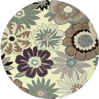 Hand-tufted Encore Garden Wool Round Rug (8' x 8')