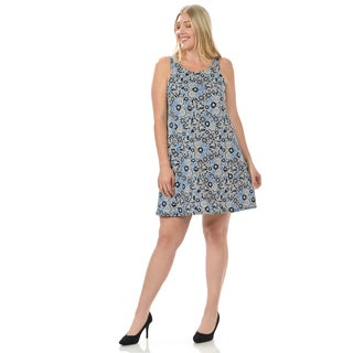 Women's Plus Size Sleeveless Floral Print Dress