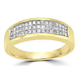 Noori 14k Yellow Gold 3/4ct TDW Diamond Wedding Band Ring (H-I, I1-I2)