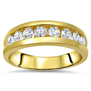 Noori 14k Yellow Gold Men's 1ct TDW Diamond Band (H-I, SI1-I1)