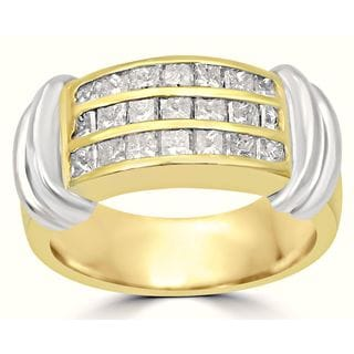 Noori 14k Two-tone Gold 1 1/4ct TDW Diamond Wedding Band Ring (I-J, I1-I2)