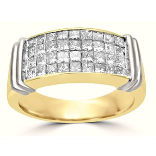 Noori 14k Yellow Gold 1 1/2ct TDW Diamond Wedding Band Ring (H-I, I1-I2)