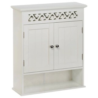 Alexandria White Wall Mounted Cabinet