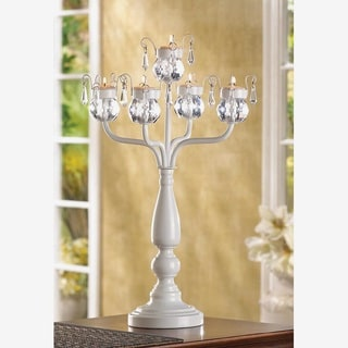 Fairy Crystal White Candelabra
