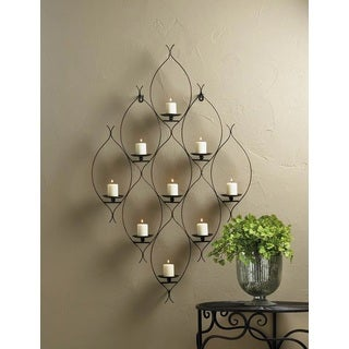 Travis 9 Candle Iron Wall Sconce
