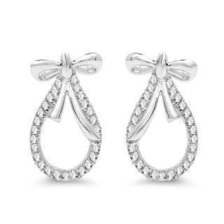 Olivia Leone 14k White Gold 1/5ct TDW Diamond Earrings (G-H, SI1-SI2)