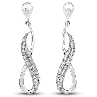 Olivia Leone 14k White Gold 1/4ct TDW Diamond Earrings (G-H, SI1-SI2)
