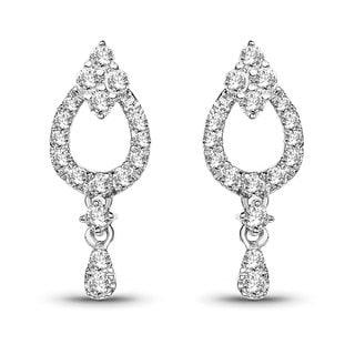 Olivia Leone 14k White Gold 3/8ct TDW White Diamond Chandelier Earrings (G-H, SI1-SI2)