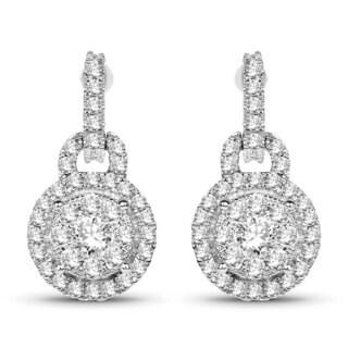 Olivia Leone 14k White Gold 5/8ct TDW White Diamond Earrings (G-H, SI1-SI2)