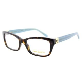 Tory Burch TY 2049 1359 Tortoise Milky Fountain Plastic 53-millimeter Rectangle Eyeglasses