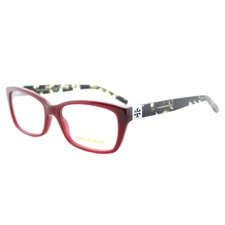 Tory Burch TY 2049 1361 Milky Cabernet Grey Tortoise Plastic 53-millimeter Rectangle Eyeglasses