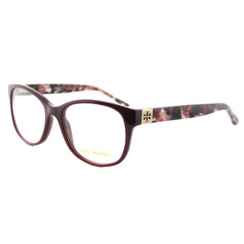 Tory Burch TY 2066 1610 Port Burgundy Plastic 51-millimeter Rectangle Eyeglasses
