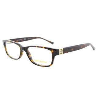 Tory Burch TY 2067 1378 Dark Tortoise Plastic 50-millimeter Rectangle Eyeglasses
