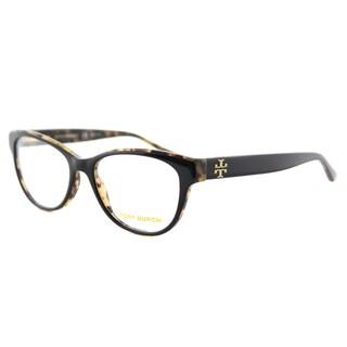 Tory Burch TY 2065 1601 Black on Tortoise Plastic53-millimeter Cat-eye Eyeglasses