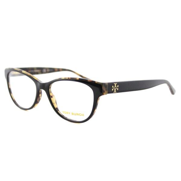 172aae0d8d Tory Burch TY 2065 1601 Black on Tortoise Plastic53-millimeter Cat-eye  Eyeglasses