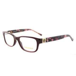 Tory Burch TY 2067 1610 Port Burgundy Plastic 50-millimeter Rectangle Eyeglasses