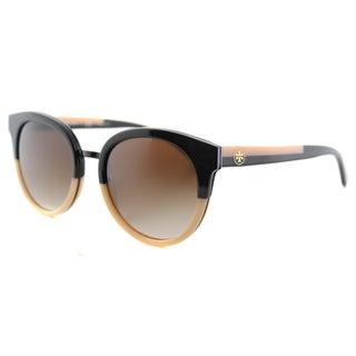 Tory Burch TY 7062 123613 Panama Tokyo Tortoise Plastic Round Green Polarized Lens Sunglasses