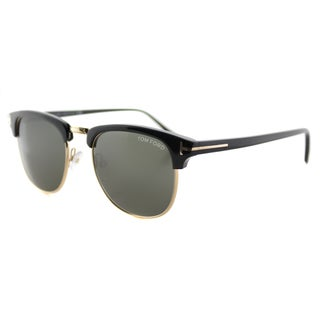 Tom Ford TF 248 05N Henry Vintage Black Plastic Fashion Green Lens Sunglasses