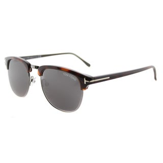 Tom Ford TF 248 52A Henry Vintage Dark Havana Plastic Fashion Grey Lens 51mm Sunglasses