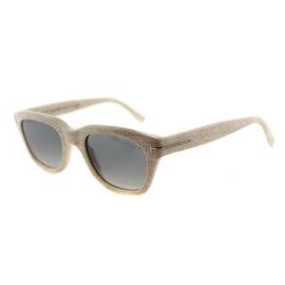 Tom Ford TF 237 60B Snowdon Beige Plastic Rectangle Grey Gradient Lens Sunglasses