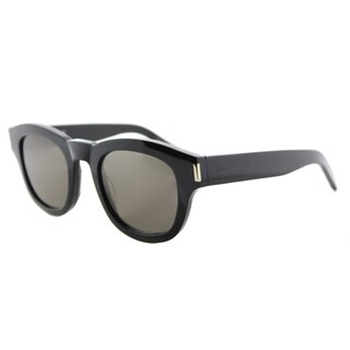 Saint Laurent SL Bold 2 001 Black Plastic Square Grey Lens Sunglasses