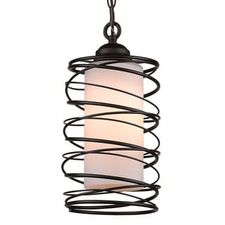 Wire Cylinder Cage Pendant Lamp