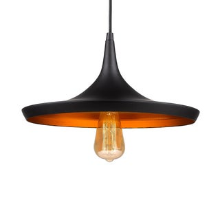 Flexible Pair Pendant with Golden Honeycomb Effect Inside the Aluminum Shade (Bonus LED Bulb Is Included until 10/31/2016)