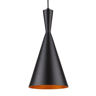 Infurniture Modern Black Metal Honeycomb Effect 1-light Pendant