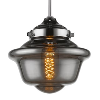 Amber Glass/Iron Dimmable Pendant Light Fixture