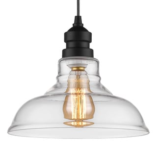 Bowl-Shaped Clear Glass Pendant (Bonus LED Bulb Is Included Until 10/31/2016)